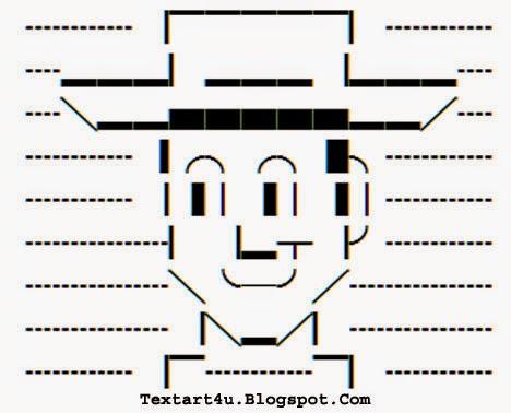 Woody Toy Story Unicode Text Art | Copy Paste | Cool ASCII Text Art 4 U