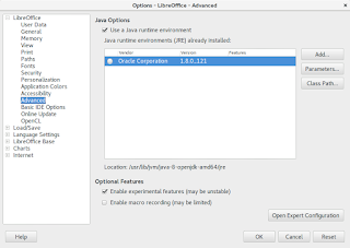 Enable experimental features in LibreOffice 5.3