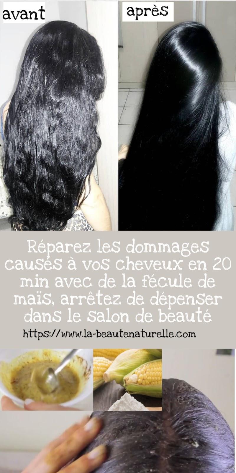 Réparez les dommages causés à vos cheveux en 20 min avec de la fécule de maïs, arrêtez de dépenser dans le salon de beauté