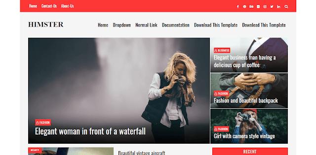 Himster - отзивчива тема за Blogger