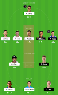 THU vs STR dream 11 team | STR vs THU