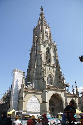 Il duomo di San Vincenzo di Saragozza di Berna - facciata