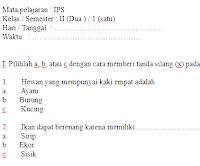 Soal-ULANGAN-UKK-UTS-IPA-kelas-2-SD-Semester-1