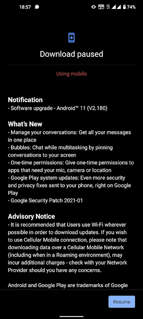 Nokia 8.3 5G receiving Android 11 update