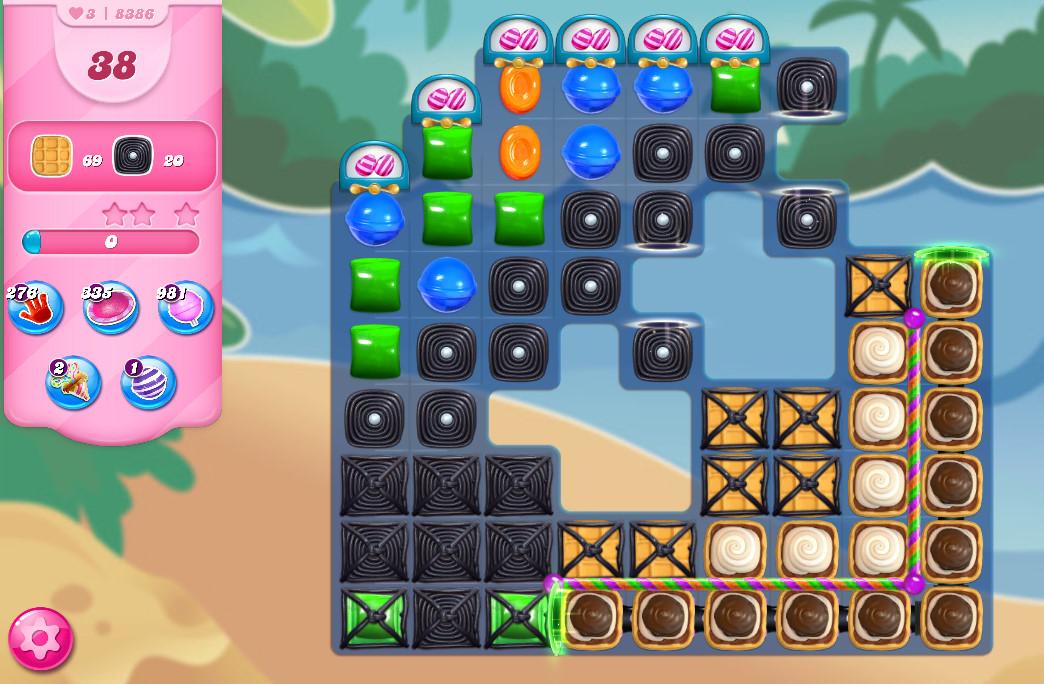 Candy Crush Saga level 8386