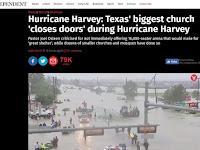 Gereja Terbesar di Texas Menutup Pintunya Saat Badai Harvey, Sementara Masjid Terbuka Membantu Korban