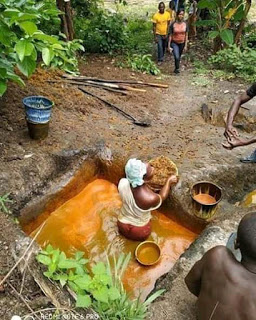 Nigerian Man, Chrisray Awodi Exposes Unhealthy Method Of Making Palm Oil.