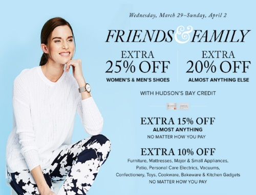 Hudson's Bay Friends & Family Event Promo Code