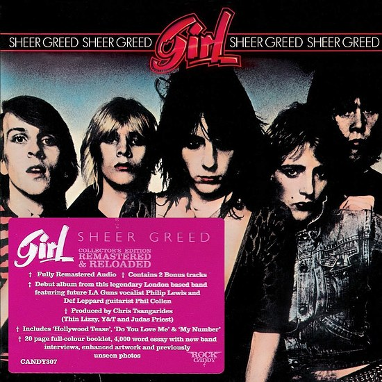 GIRL (Phil Collen) - Sheer Greed [Rock Candy remastered +3] (2016) full