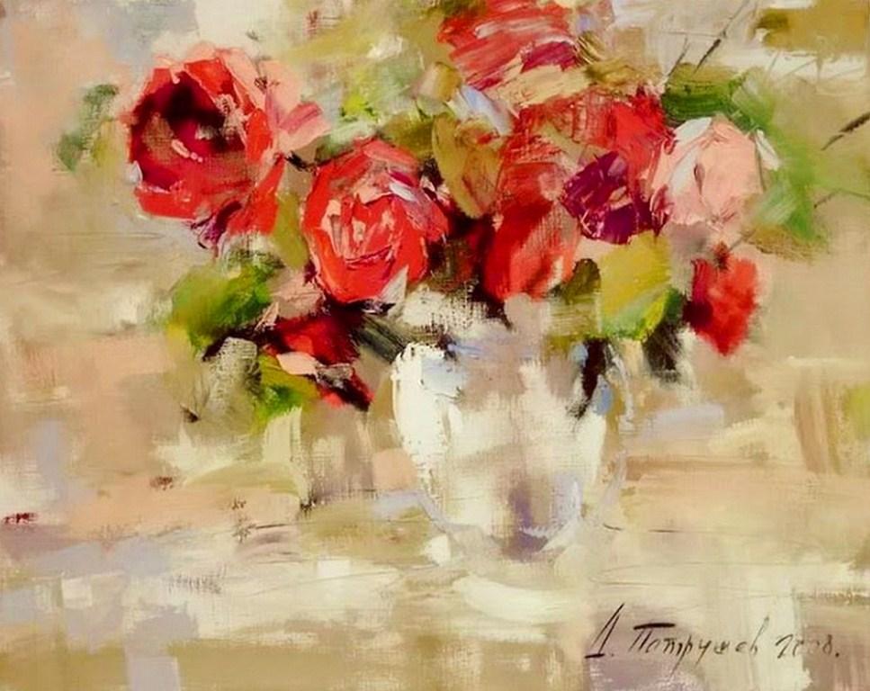 Imágenes Arte Pinturas: Bodegones de Flores Para Pintar