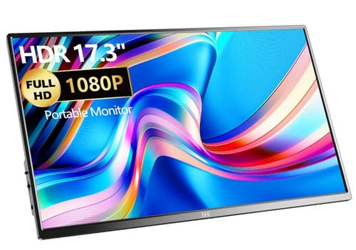 IVV 173FC1-B IPS HDR FHD Ultra-Slim Portable Monitor