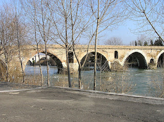 The Ponte Milvio in Rome as it is today