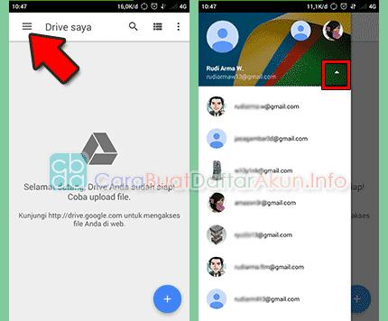buat akun google drive di android