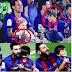 Thiago Messi aprende de Neymar
