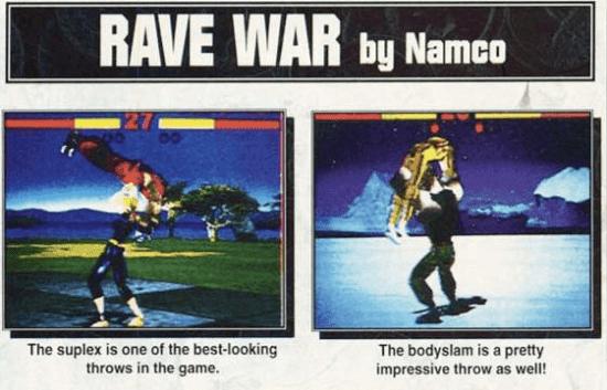 Rave War adalah nama yang akan digunakan Namco untuk perilisan Tekken di luar Jepang, tapi tidak jadi