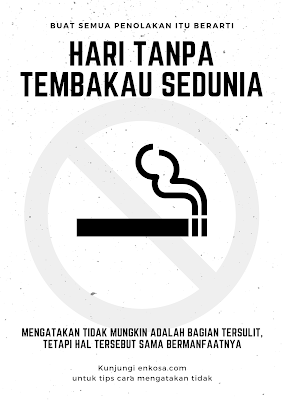 Template Ucapan Selamat Hari Tanpa Tembakau Sedunia 30 Mei