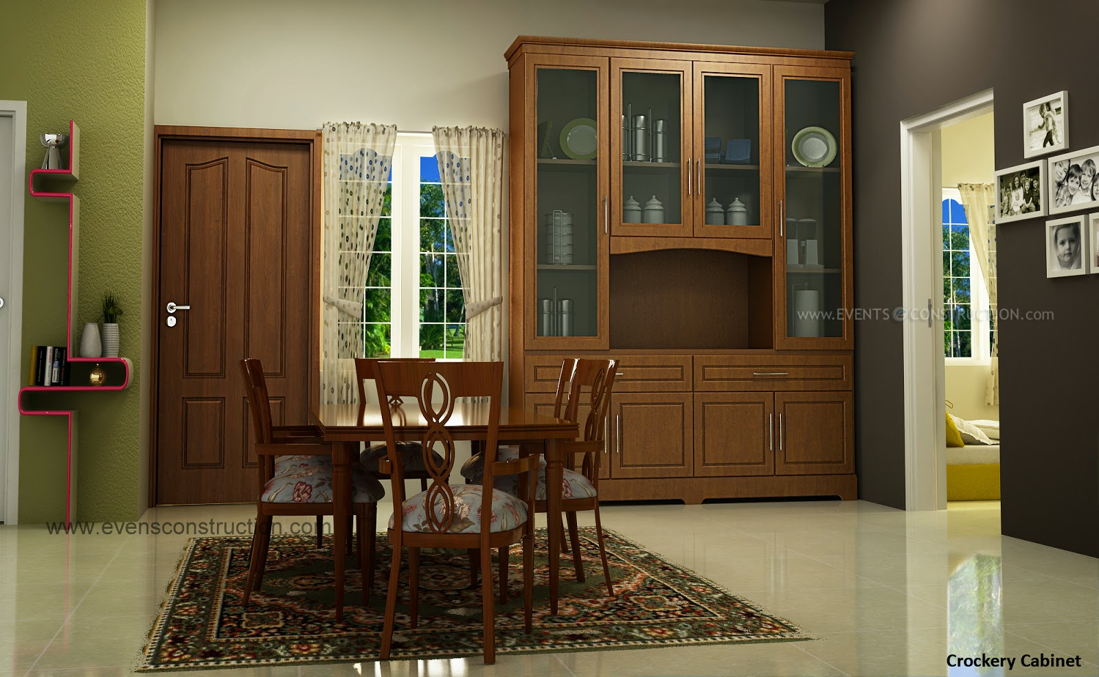 Evens Construction Pvt Ltd Crockery Shelf For Dining Room