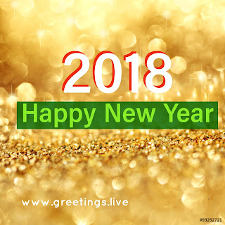 Diamonds shine spectacular Happy New Year 2018 wishes in English