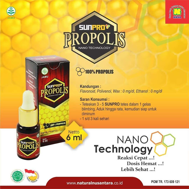 Sunpro Super Nano Propolis NASA Stokis NASA AB.1346 Kasimura Herbal