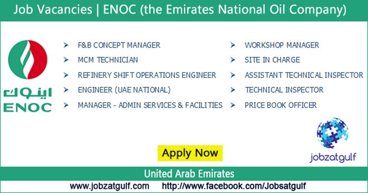 Job Vacancies | ENOC (the Emirates National Oil Company