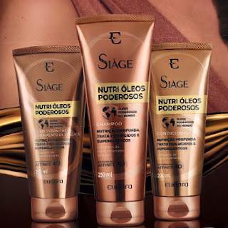 resenha Nutri Óleos Poderosos Siage Eudora Shampoo, Condicionador e Tratamento Overnight dicas da tia