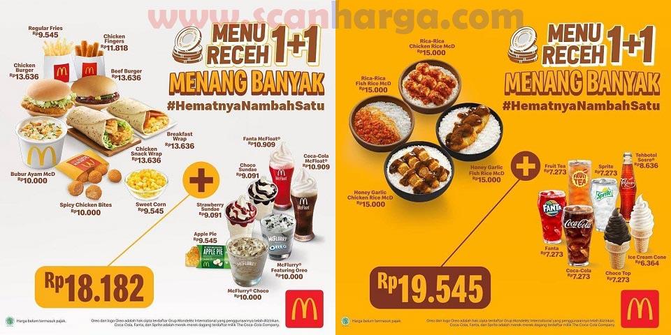 Promo McDonald Menu Receh 1+1 Menang Banyak