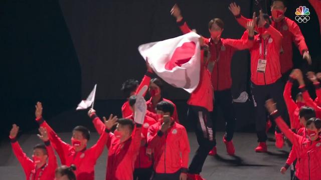 Tokyo 2021 Olympic Games Closing Ceremony Team Japan flag parade