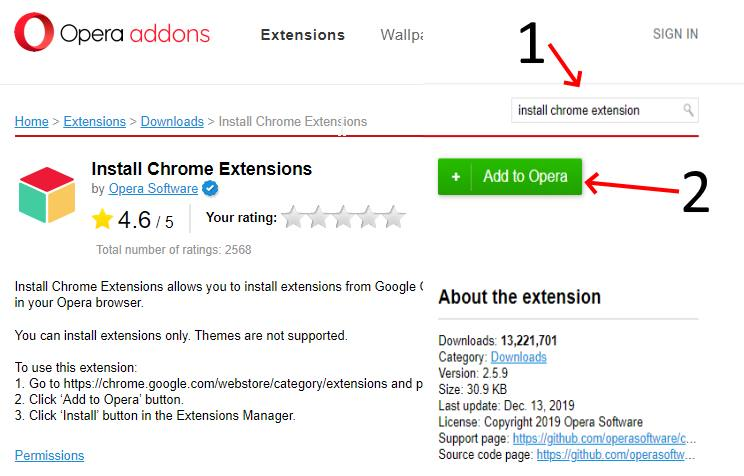 install-chrome-extension-by-opera-addons-in-opera-web-browser