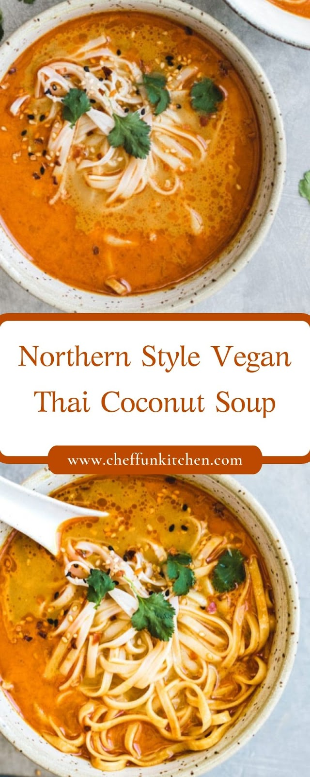 Northern Style Vegan Thai Coconut Soup