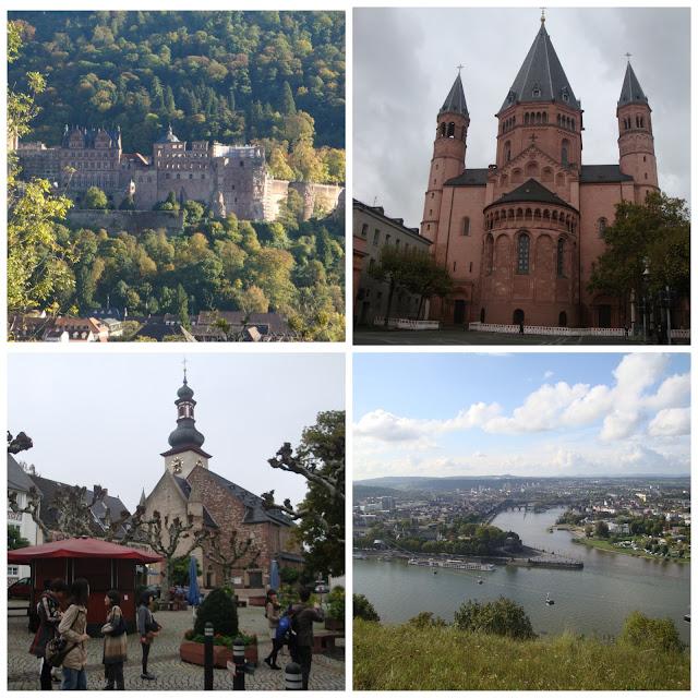 Heidelberg, Mainz, Koblenz e Rüdesheim