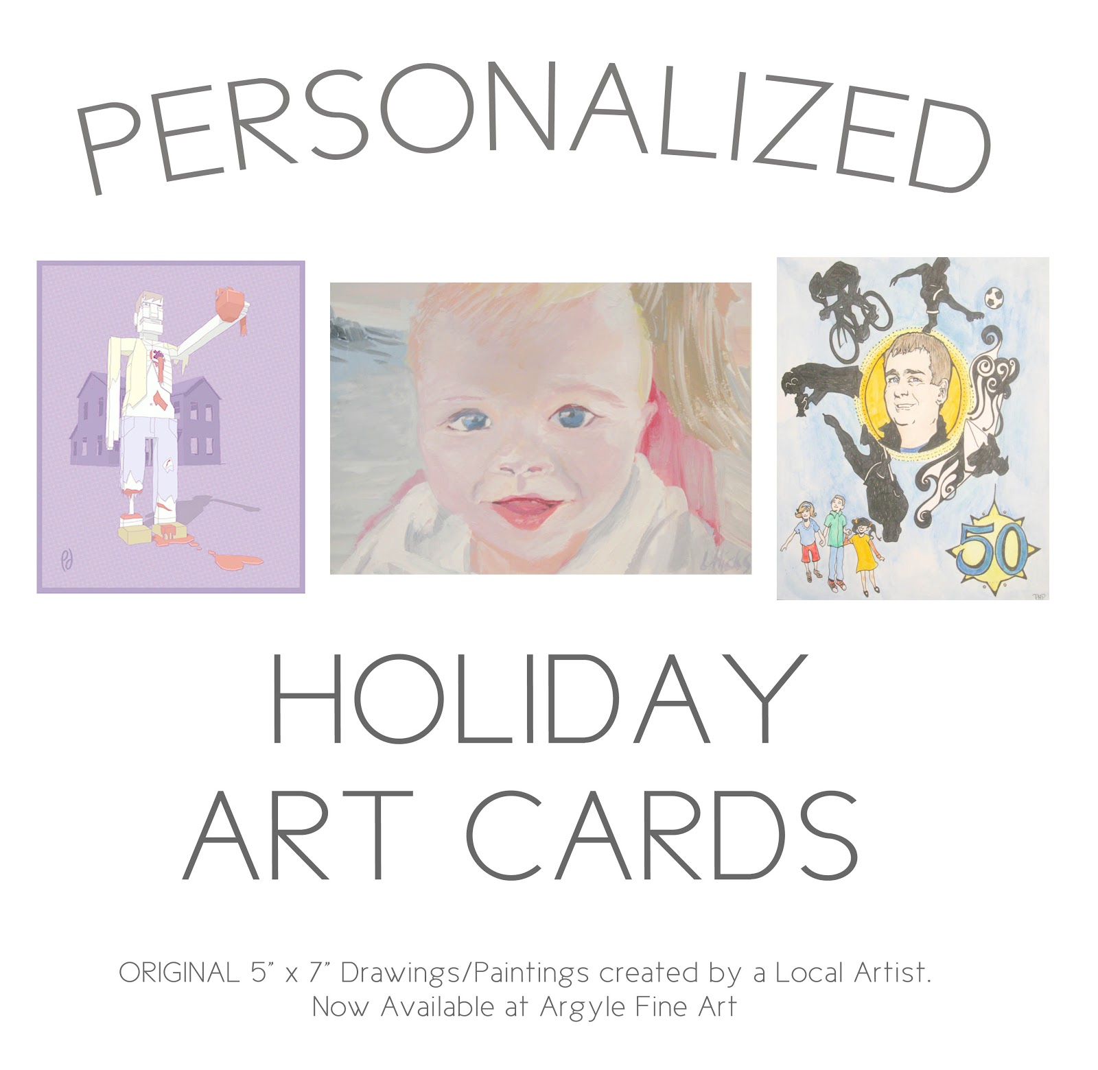 Argyle Fine Art: Personalized Holiday Cards