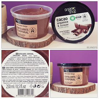 Cosmétiques Bio chocolat gommage corps