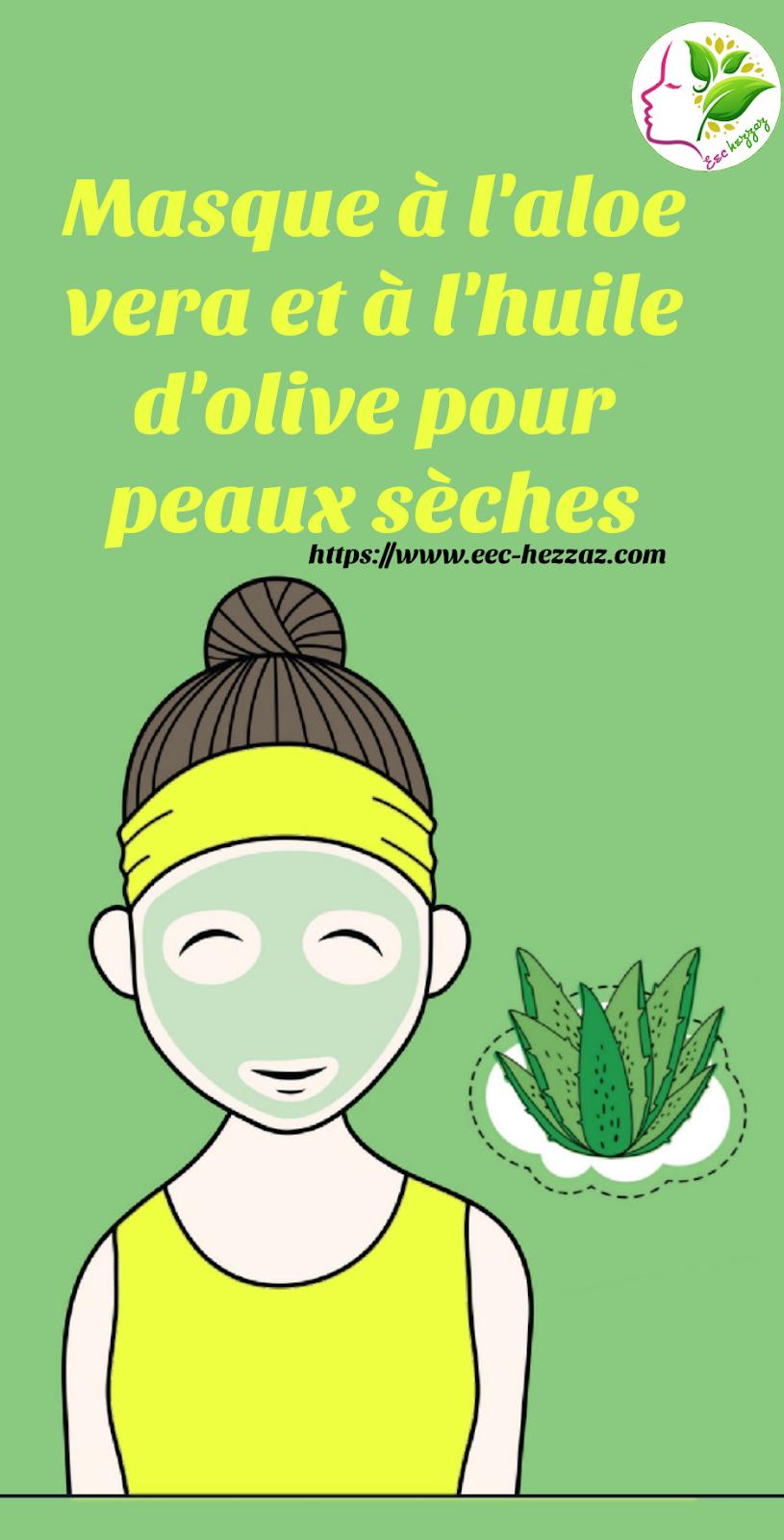 Masque à l'aloe vera et à l'huile d'olive pour peaux sèches