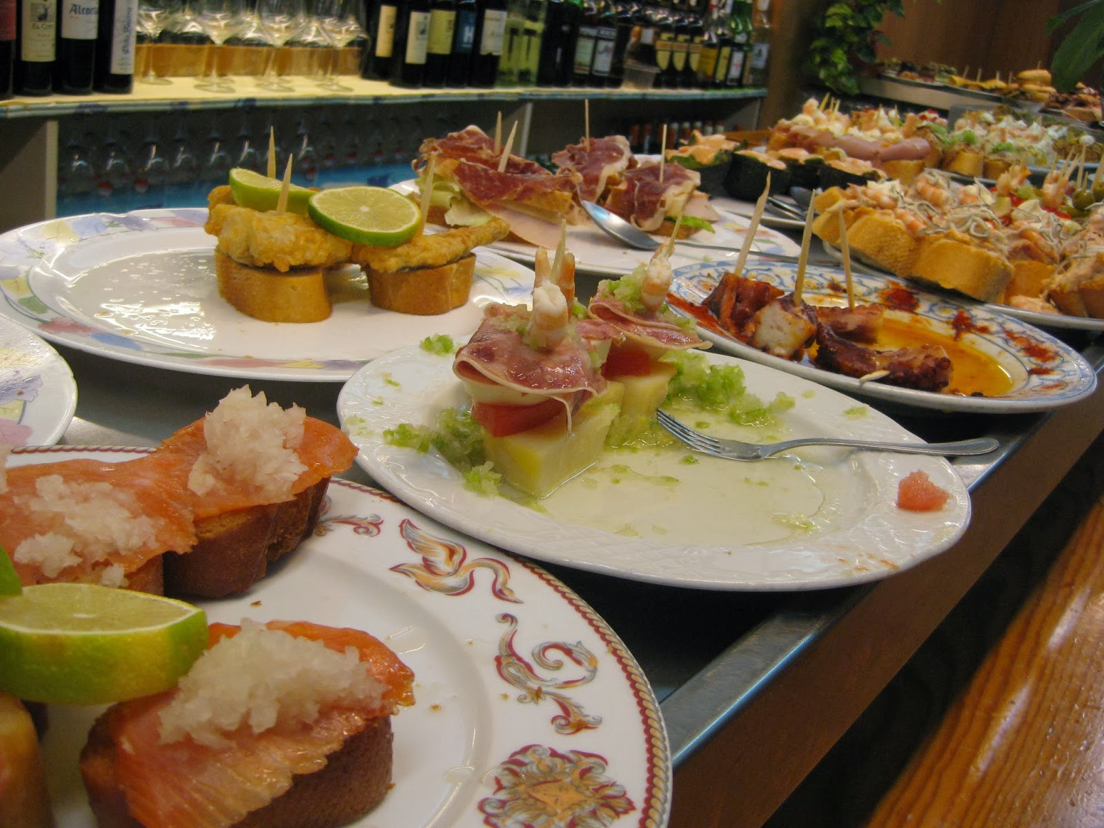 San Sebastian - pintxos at one of the many bars in Old Town