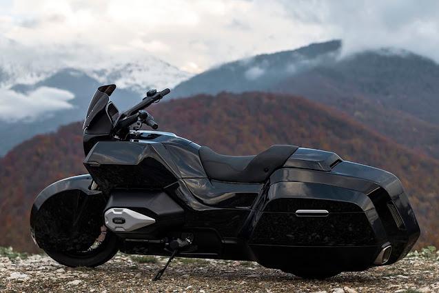 Kalashnikov designed Izh Kortezh cruiser motorcycle.