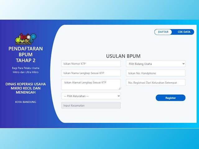 Ini Cara, Syarat, dan Jadwal Pendaftaran Bantuan Langsung Tunai UMKM Rp2,4 Juta Tahap 2 di Kota Bandung