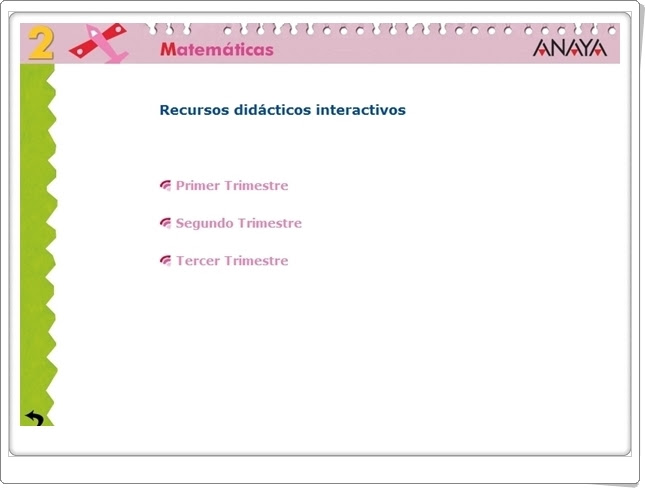 Recursos Interactivos Anaya. Matemáticas de 2º de Primaria. (Abre la puerta)