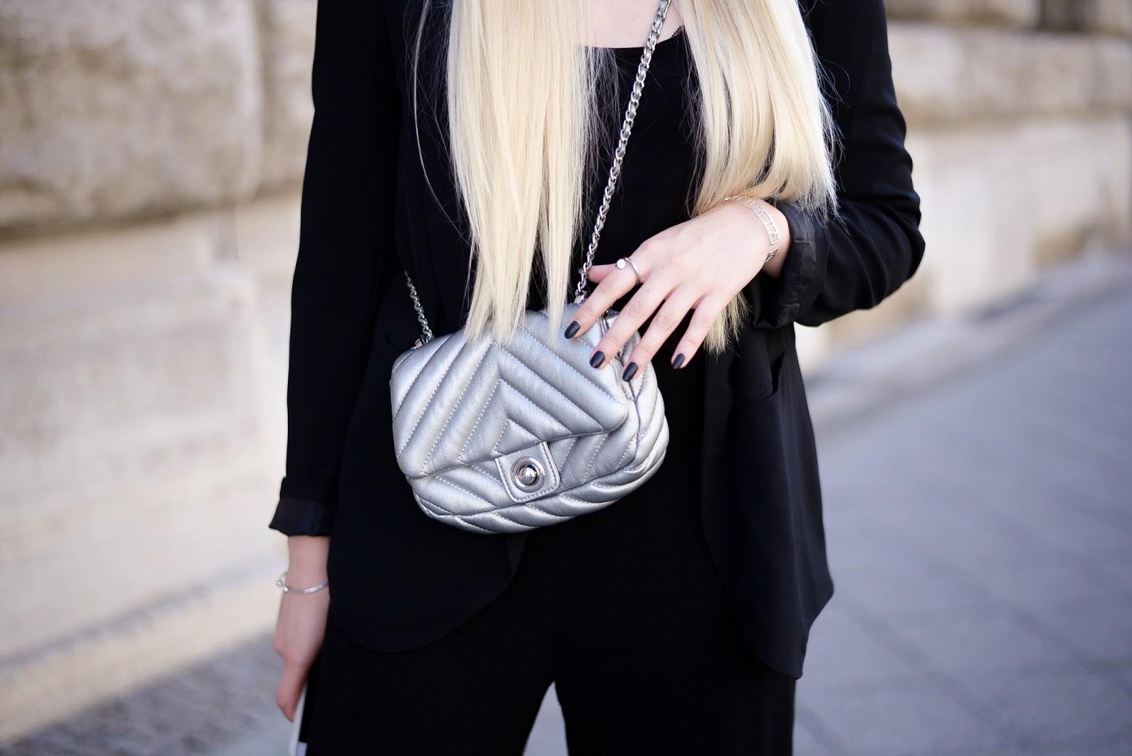 silver mini bag