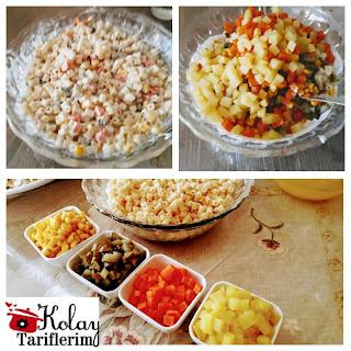 Garnitürlü Makarna Salatası Nasıl Yapılır?