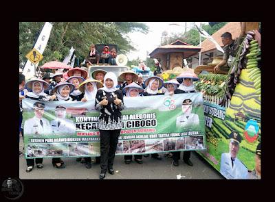 """""""Pawai Alegoris dalam rangka HUT Kab. Subang. Terima kasih kepada para kepala Desa Se-kec Cibogo"""