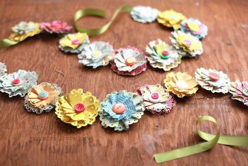 Paper Flower Spring Garland by Smiling Colors