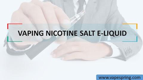 VAPING NICOTINE SALT E-LIQUID