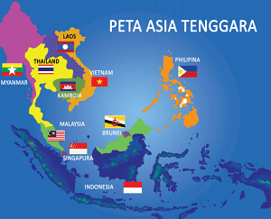 peta negara-negara Asia Tenggara www.simplenews.me
