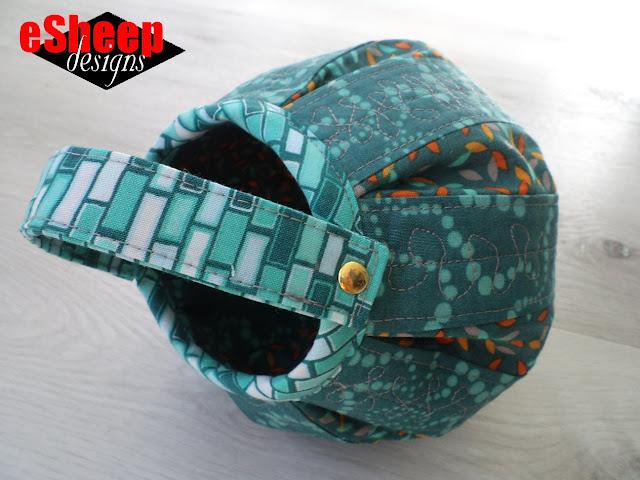 Barrel Lantern Fabric Basket crafted by eSheep Designs