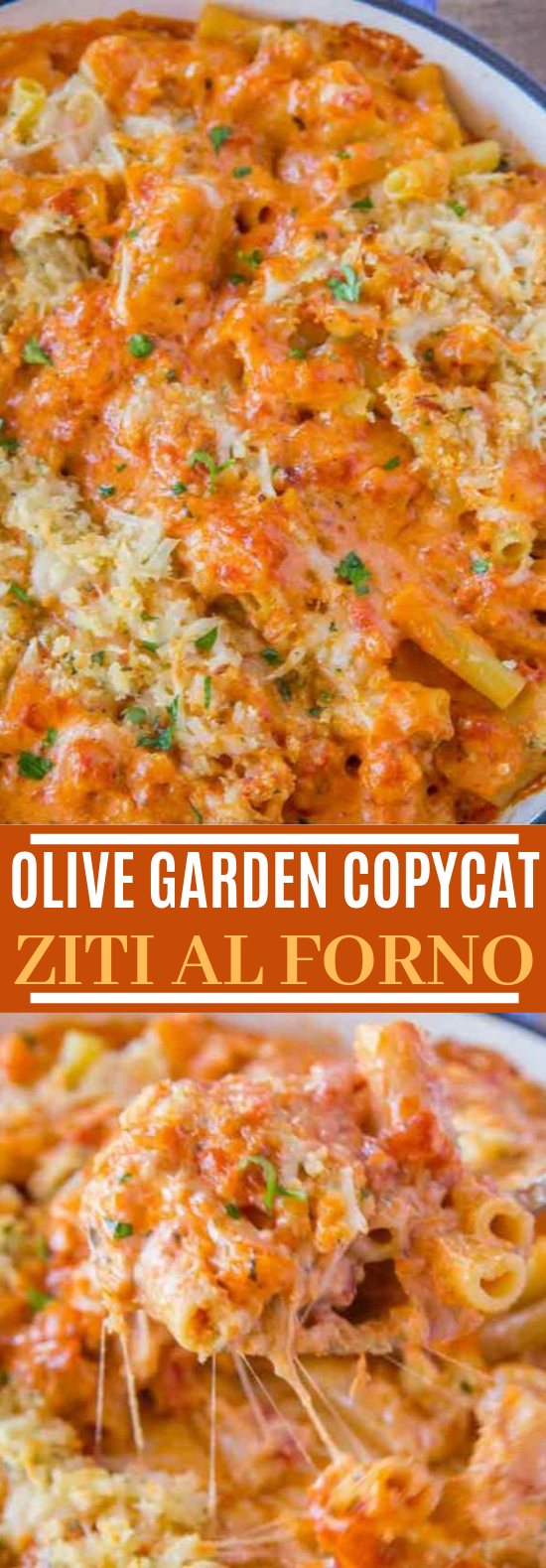 Olive Garden Five Cheese Ziti al Forno (Copycat) #dinner #pasta