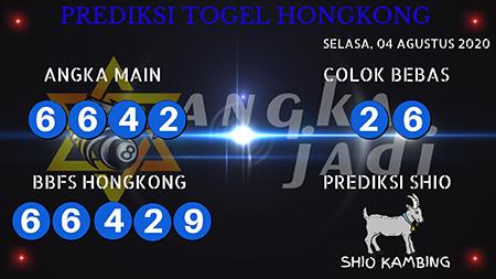 Prediksi Togel Angka Jitu Hongkong HK Senin 03 Agustus 2020