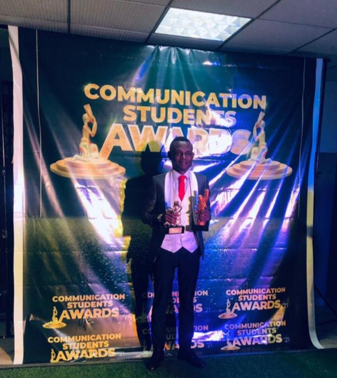 Stephen Bernard Donkor bags 2 Awards in the 2021 Communication Students Awards