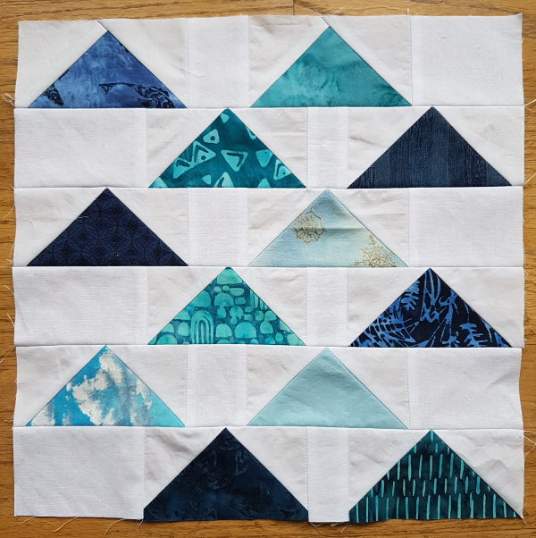"Flying Together 12"" quilt block 