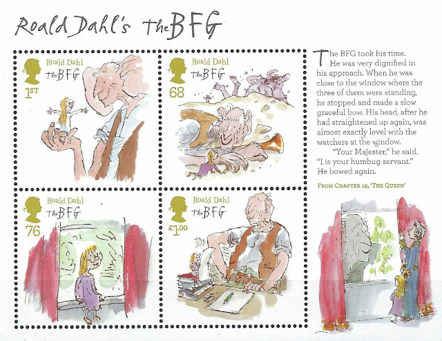 2012 Roald Dahl The BFG miniature sheet