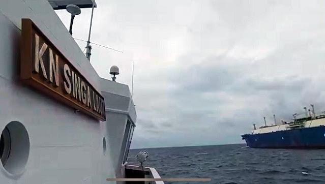 Kapal Tanker dari China Mondar-mandir di Perairan Maluku, Diusir Bakamla